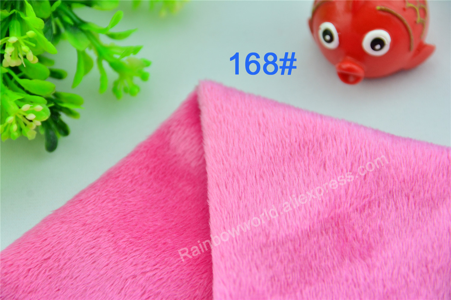 168# Rose Color Super Soft Short Hair 2-3mm Fleece Fabric Velvet Microfiber Velboa for DIY Patchwork Toy Shoes Sofa Pillow