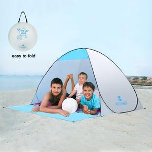 Image 1 - KEUMER автоматический пляжный тент с защитой от ультрафиолета, 2 человека, палатка для кемпинга, Мгновенный Всплывающий Открытый Анти УФ тент, тенты для улицы, солнцезащитный тент