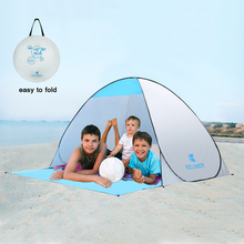 KEUMER Automatic Beach Tent UV Protection 2 Persons Camping Tent Instant Pop Up Open Anti UV Awning Tents Outdoor Sunshelter