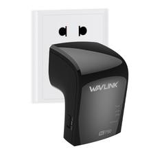 Wavlink AC750 Wifi Repeater/Access Point Wireless Range Extender Wifi Signal amplifier WPS Encryption US&EU Plug -Black