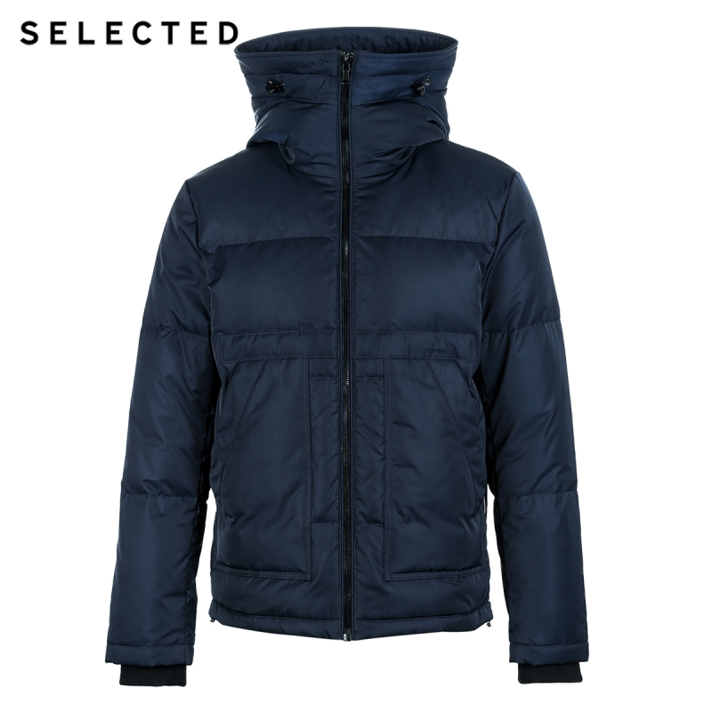 SELECTED New Winter Down Jacket Men's Suede Neck Casual Short Down Coat Suit Clothes S | 418412582