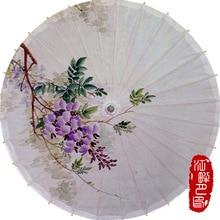 JIANGPANYUE Oil Paper Umbrella Rain Women Delicate Purple Color Cherry Parasol Kids Adults XXXL Size Paper Rain Umbrella