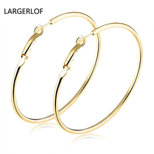 2017 Simple Ring Large Hoop Earrings Earings Fashion Jewelry One Color jewelry Earring Style For Girls