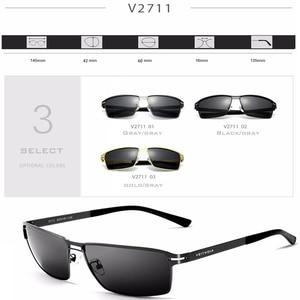 Image 5 - VEITHDIA 2020 גברים של משקפי שמש מקוטב UV400 עדשת שמש משקפיים מלבן נירוסטה משקפיים Eyewear אביזרי עבור גברים