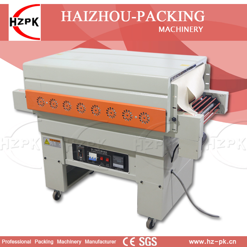 HZPK Air Injection Vertical Automatic Jet Heat Shrink Machine PVC POF Film Shrink Packing Machine For Bottle Carton Sealer 400mm