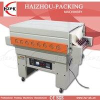 HZPK Air Injection Vertical Automatic Jet Heat Shrink Machine PVC POF Film Shrink Packing Machine For Bottle Carton Sealer 400mm