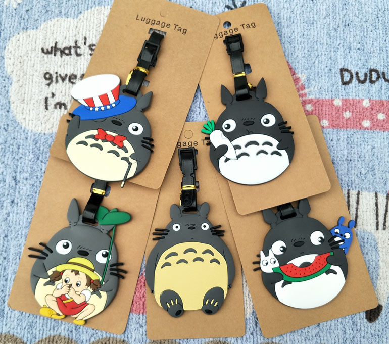 IVYYE Grey Totoro Series Anime Travel Accessories Luggage Tag Suitcase ID Address Portable Tags Holder Baggage Labels New