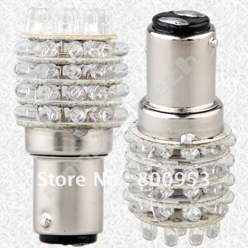 [200pcs/Lot] BA15D LED lamp 12V with 45led 1157 BAY15D 45 LED REPLACEMENT BULB  1016 1154 1034 P21/4W, P21/5W