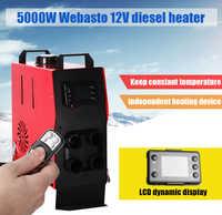 Control remoto LCD y tanque de aceite 5KW 12V calentador de aire diesel webasto para barco coche van RV Camper-Reemplazar Eberspacher D4, Webas