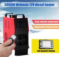 DIY install All in One Car 12V 5000W Car parking Diesel Heater fan 10 L oil tank LCD monitor remote Diesel car Parking heater