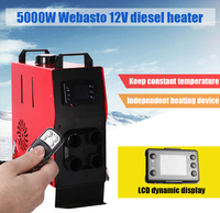 LCD Remote control AND 10 L oil tank 5KW 12V webasto air heater diesel for Boat Ship car van RV Camper replace Eberspacher D4,Webasto parking diesel heater
