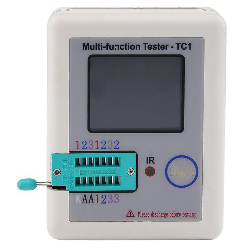 1.8inch TFT Screen Multifunctional TFT Backlight Transistor Tester Multi-functional TFT Transistor Tester with Test Hooks