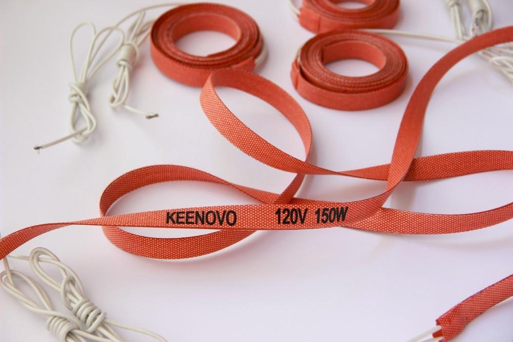 Keenovo Chauffe Silicone, Flexible Chauffage Élément/Bande/Ceinture/Bande, 15*2000mm 150W @ 120 V, livraison Gratuite, Conception Personnalisée de Bienvenue