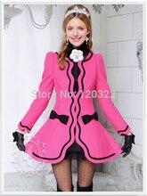 dabuwawa New 2016 Brand Autumn and Winter Plus Size Slim Casual Long Wool Skirt Women Jacket Wholesale