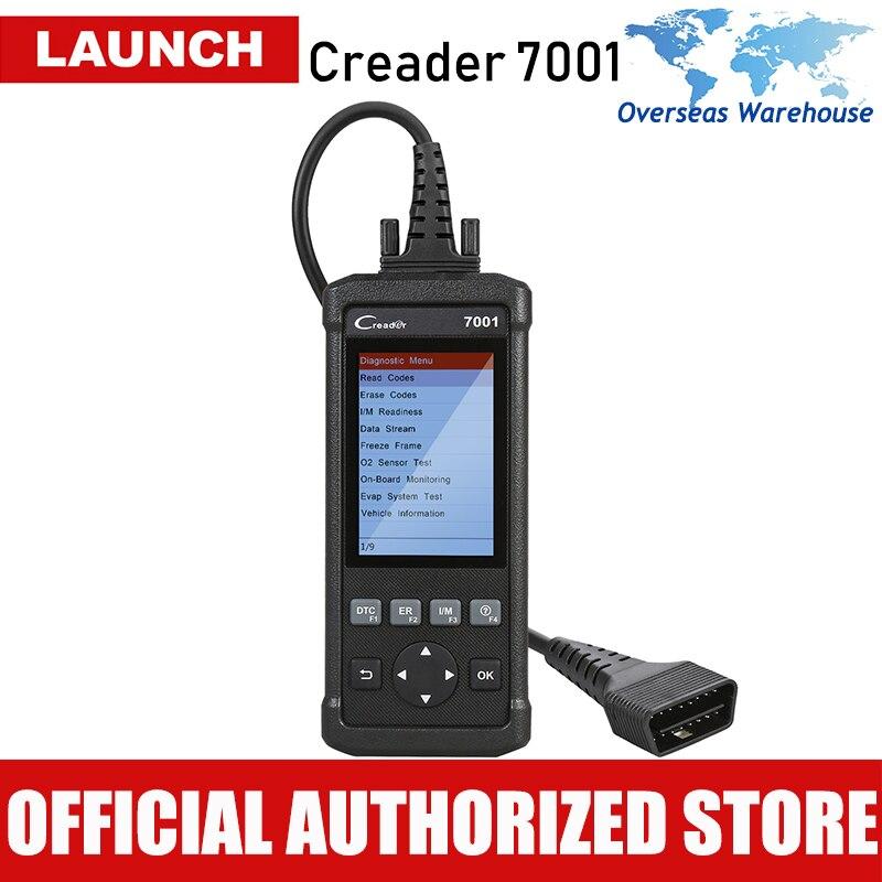 LANÇAMENTO CReader 7001 Leitor de Código de OBDII Completo/Funções de Diagnóstico EOBD Scanner/Scan Tool com Gravação e Reprodução de Dados, redefine óleo F