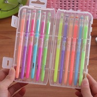 12pcs Set Korean Stationery Colored Gel Pens For Writing Cute Diamond Head 0 5mm Colorful Ink