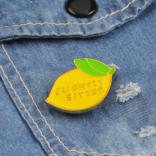 Fashion Jewelry Pins Brooches Lovely Yellow Fruit Food Brooch Couple Enamel Pin Badges Backpack Accessories Lovers Jewelry Gift(China)