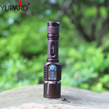 YUPARD mobile power bank Brightness LED XM-L2 T6 5mode Intelligent Flashlight USB charging Torch rechargeable 18650 battery