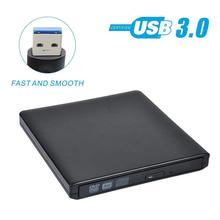 External DVD Drive USB 3.0 Aluminum Ultra Slim External CD/DVD-RW Burner Writer Player optical drive for mac, Windows and Linux dvd player and drive cleaner kit