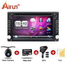 New universal 2 din car dvd gps Car Radio Recorder GPS Navigation In dash Car PC Stereo Head Unit video+Free Map Card!