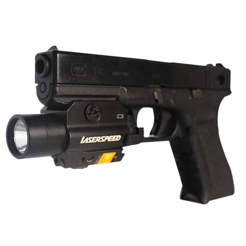 Tactical rail mounted green laser sight glock laser flashlight combo glock