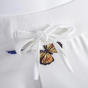 Комплект из 2 предметов; Спортивный костюм с принтом бабочки и цветов; Подиумная куртка; Брюки для бега; Женская одежда; Спортивные костюмы; Зимний ансамбль