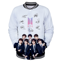 BTS Hoodies Signnature JIMIN SUGA JIN V RM Women's Baseball Jackets Couples Harajuku Hip Hop Kpop Tops Coat Sweatshirts