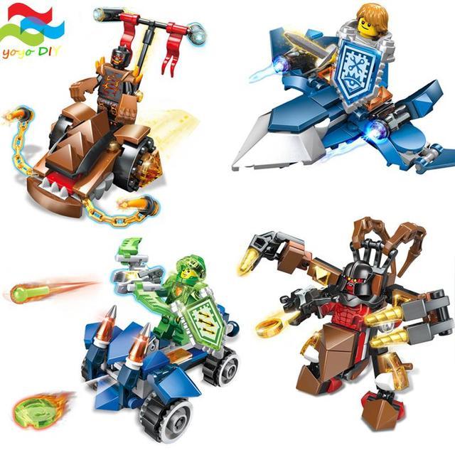 4 unids/lote jinete de dragón figuras de construcción de bloques y tornado combatiente montar kits de bloques de construcción ladrillos juguetes compatibles con lego