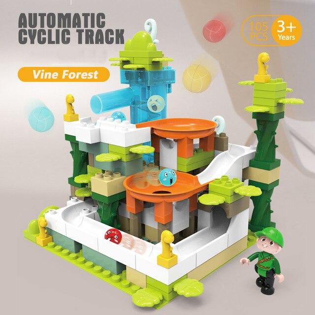 Piste électrique de piste cyclique automatique avec des blocs de construction de moteur Compatible aventure Legoing MOC briques Juguetes pour enfants cadeau