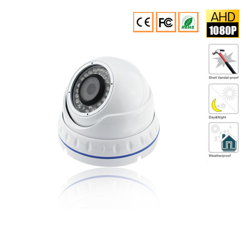 CCTV Surveillance AHD Security 1080P 2.0MP HD Dome Camera System Night Vision 3.6mm Lens CCTV Camera 24Leds  IRCut for AHD DVR