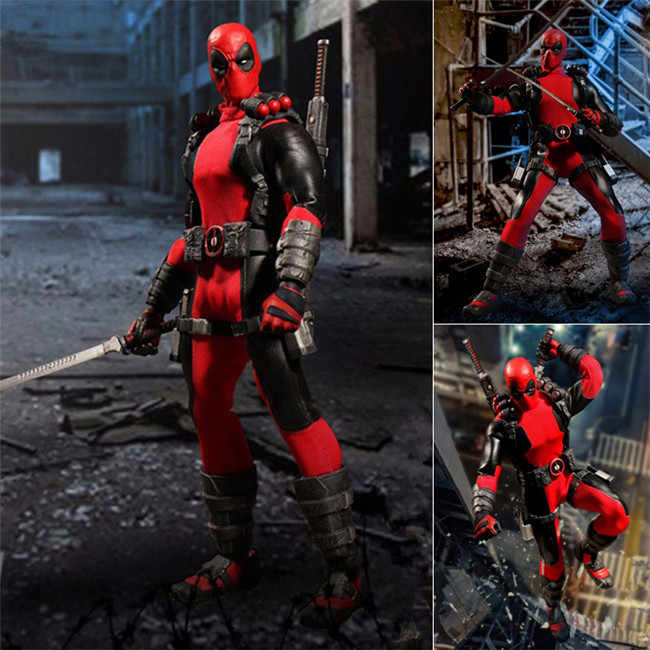 Marvel superhéroe Deadpool x-men Mezco One: 12 figuras de acción Juguetes