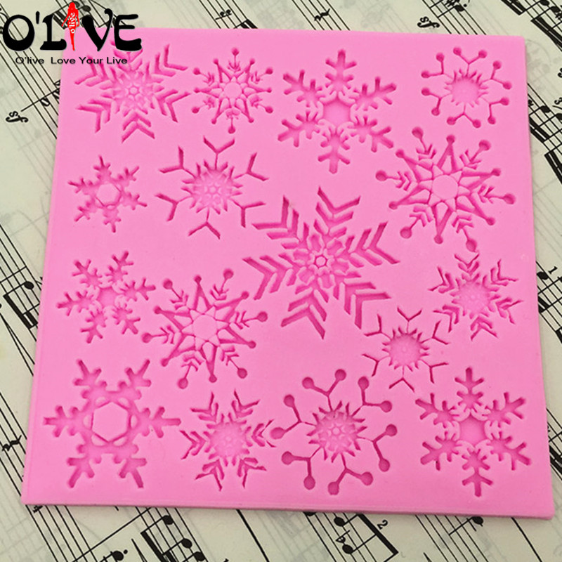 Snowflake Lace Silicone Mold 3d Cake Decorating Tools