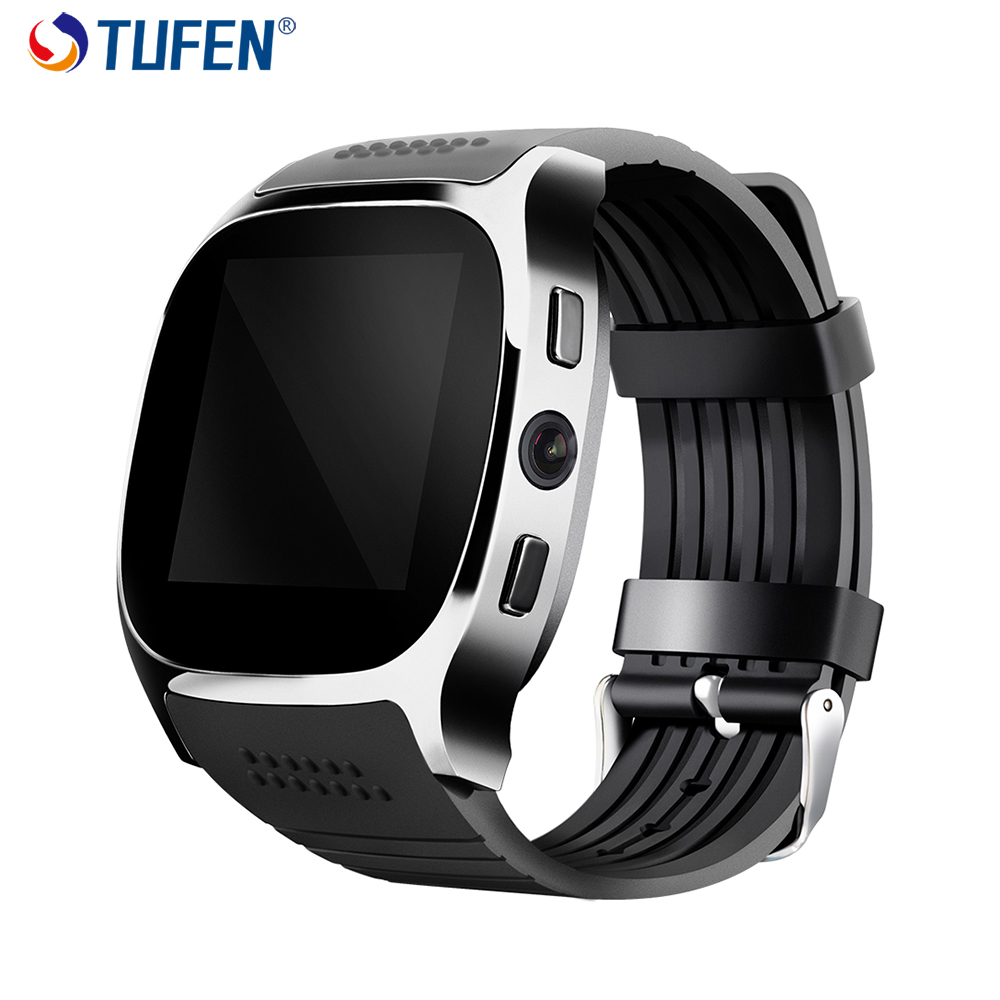 TUFEN T8 Bluetooth Smart Watch Support SIM Card Men Kid Watch Phone With Camera Messaging Passometer Smartwatch For Android IOS bluetooth watch d8 full steel smart bracelet sync phone led digital watch with vibrate can answer phone for smart watch