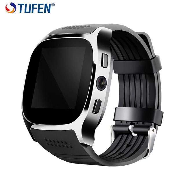 TUFEN T8 Bluetooth смарт часы Поддержка с сим картой Для мужские женские детей часы телефон с Камера обмена сообщениями Шагомер смарт-часы iOS и Android на русском VS q90 dz09 q50 для детей детские часы сенсорные