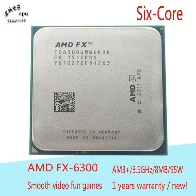 Amd Fx 6300 Cpu Six Core 3 5ghz L2 6m L3 8mb 95w Socket Am3 Cpu
