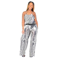 NewAsia Sexy Jumpsuit Silver Sequin Jumpsuits For Women 2019 Long Pants Body Mujer Rompers Womens Jumpsuit Overalls Playsuit New