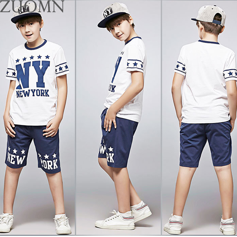 Big Boy Sport Suit Boys New York Clothes Set Big Boys Tracksuit Casual Boy Clothing Set Handsome Kids ClothesYL571 2 piece set new sport suit for boys cotton baby boy clothing sets hooded kids clothes set long suit boys clothes tracksuit tz001
