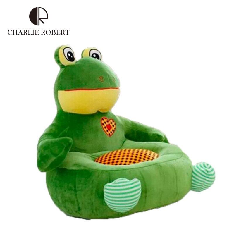 2015 New Brand Kawaii Relax Plush Toys Baby Sofa Kids Learn Seat Feeding Chair Baby Bean Bag Plush Furniture HK432