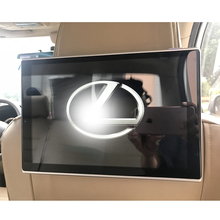 Rear Seat Car Android Headrest Monitor Two pcs 11.8 inch 7.1 OS USB SD DVD Players for Lexus