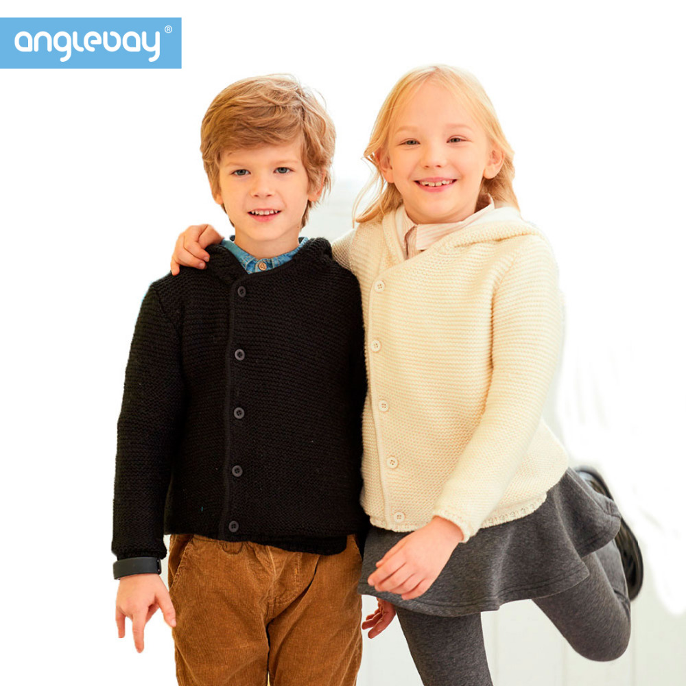 Anglebay Boys Girl Hooded Sweater Winter Fleece Lined Fashion Cardigans Single Breasted Unisex Knitwear Kids Outwear Sweater longline hooded chunky sweater page 1