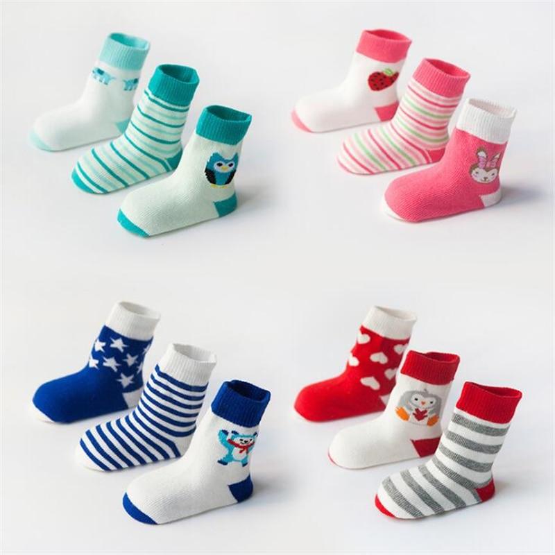 3Pairs / lot Tavaszi vékony baba zokni Cartoon zokni Csecsemő - Bébi ruházat