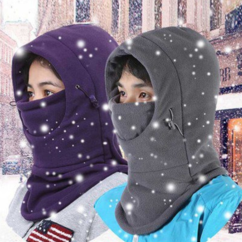 US Mens Ladies Fleece Neck Warmer Snood Scarf Ski Motorbike Cycling Hiking Mask