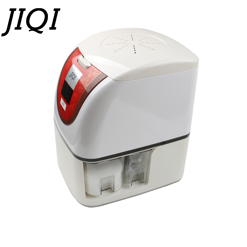 JIQI Electric Mini oil Extractor Automatic Heat&Cold Fried Oil press machine peanut presser Sesame Sunflower Seed Expeller EU US mini automatic oil press machine commercial home oil extractor expeller presser hot and cold press seed oil making machine zf