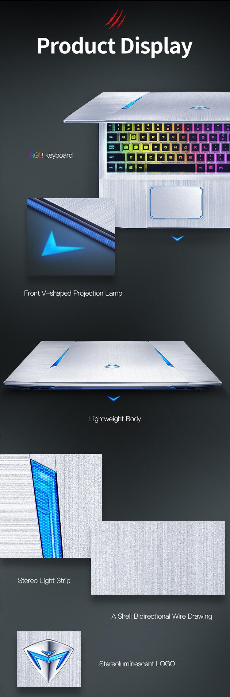 Machenike T90-T6C Gaming Laptop (Intel Core i7-8750H+GTX 1060 6G/8GB RAM/256G SSD/15.6'' 144Hz72%NTSC) Machenike-brande notebook