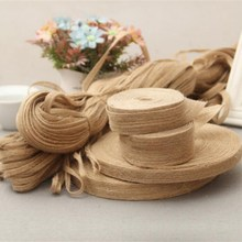 5M arpillera Hessian Rollo de cinta varios estilos Yute natural fiesta de boda Vintage DIY artesanía decorativa AA8209
