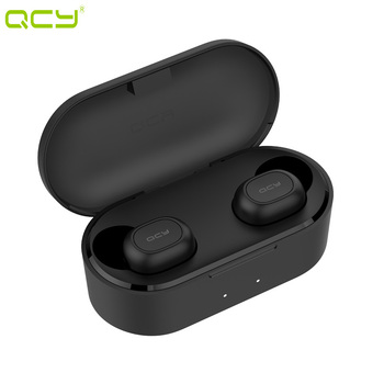 QCY T2C 2019 new TWS 5.0 Bluetooth headphone 3D stereo wireless earphone with dual microphone Headset and charging box T1S rockspace eb30