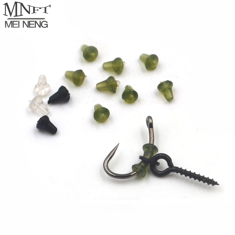 MNFT 50Pcs Carp Fishing Hook Stoper on Sliding Hooks Holder Terminal Tackle Rubber Pop Up Set Up Rig Shank Beads accessories maximumcatch soft tungsten putty 3 pieces tungaten weight carp terminal tackle tungsten sinker for carp fishing