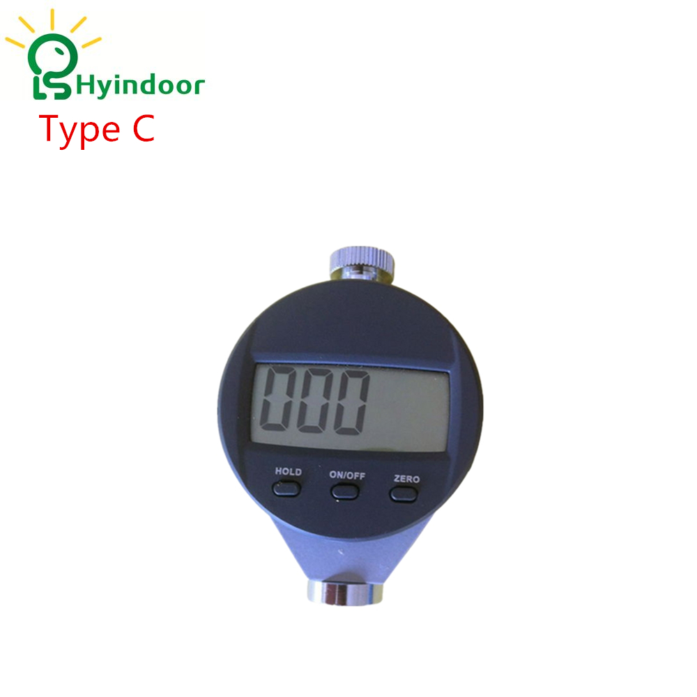 Type C Digital Shore Hardness Tester Meter High Quality Shore Durometer Digital Precise Hardness Tester Rubber Hardness Guage free shipping digital shore hardness tester meter shore durometer rubber hardness tester standards din53505 astmd2240 jisr7215