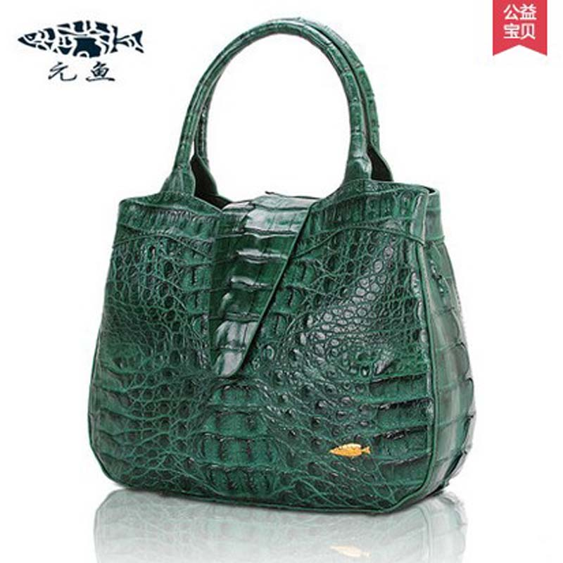 yuanyu new  imported real crocodile leather female handbag  big dinner leather bag lady bag women crocodile handbag yuanyu 2018 new hot free shipping real thai crocodile women handbag female bag lady one shoulder women bag female bag
