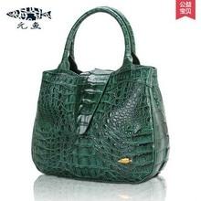 yuanyu new  imported real crocodile leather female handbag  big dinner leather bag lady bag women crocodile handbag